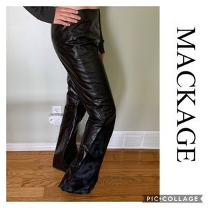 Mackage Leather Fur Flair Pants S10 Gorgeous On !!